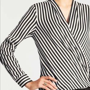 ann taylor pinstripe blouse